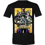 My Hero Academia Camiseta de Hombre Personaje Póster Algodón Negro - L