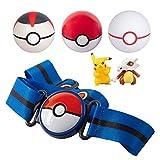 PoKéMoN Clip 'N' Go - Cinturón con 3 Bolas de Poké y 2 Figuras, Incluye Figura de Pikachu y Cubone, Capacidad para hasta 6 Pokeballs – Edades 4 +